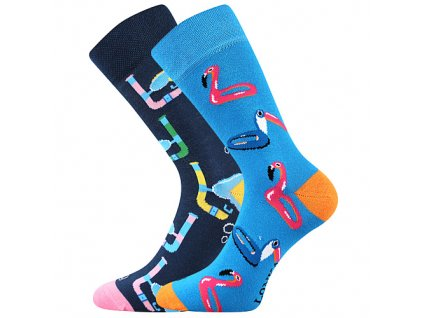 ponozky doble plamenaci modra e vesele obrazkove vtipne superfit store