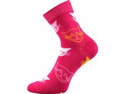 ponozky kocky xantipa 57 ruzova a vesele obrazkove vtipne superfit store