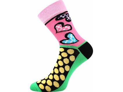 ponozky srdce puntiky ivana 55 ruzova a vesele obrazkove vtipne superfit store