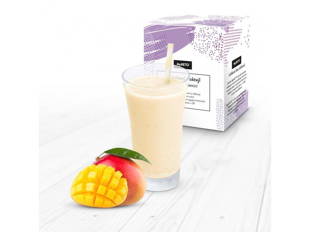 MyKETO Proteínový koktail s príchuťou mango 5 porcií