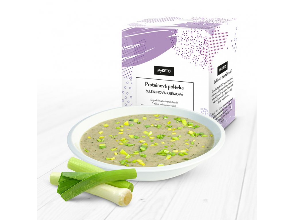 MyKETO Proteínová polievka zeleninová krémová 1 porcia 40g