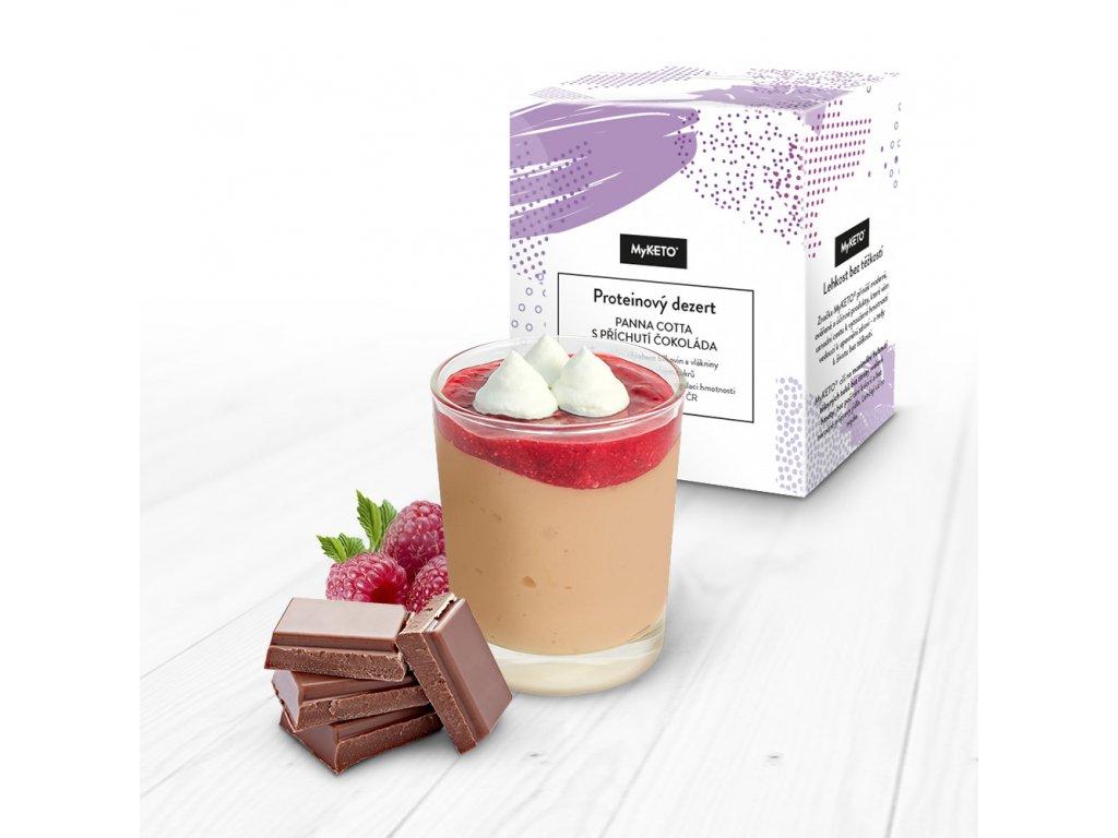 MyKETO proteínový dezert panna cotta s príchuťou čokolády 1 porcia 40g