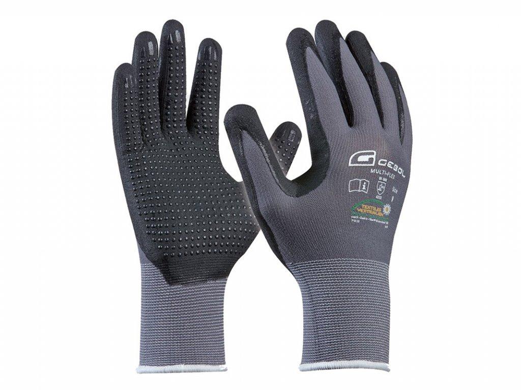 Pracovné rukavice GEBOL Multi-Flex č.9