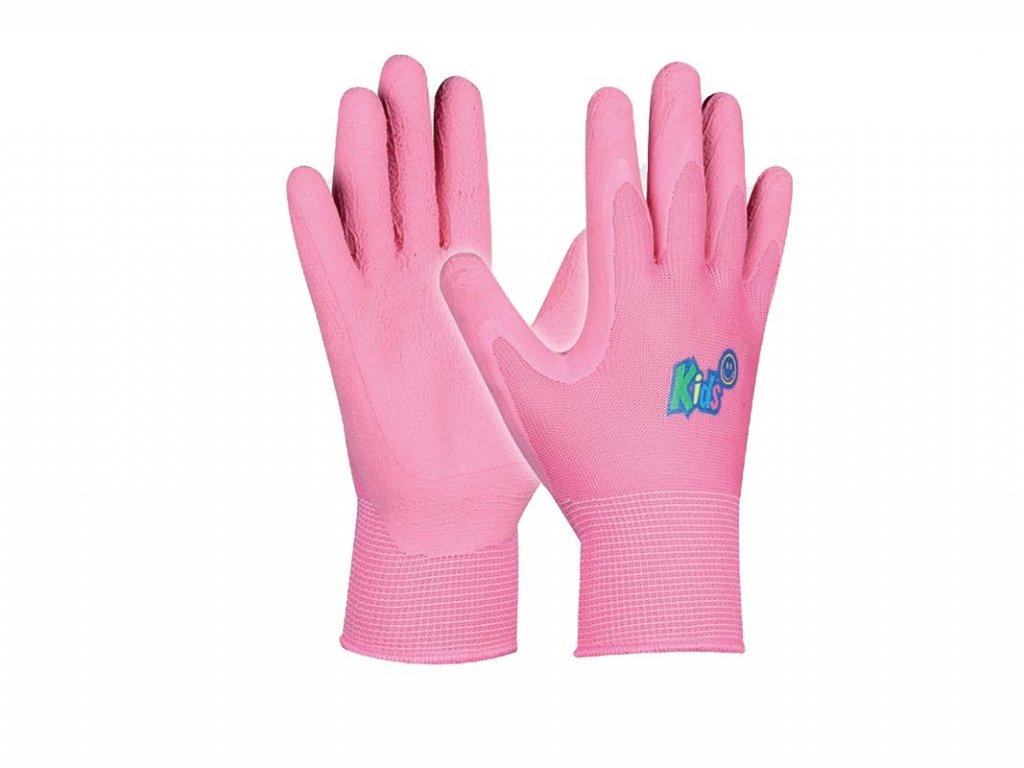 Pracovné detské rukavice GEBOL Kids pink