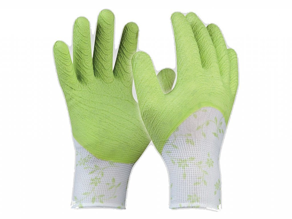 Pracovné rukavice GEBOL Flower Green č.8