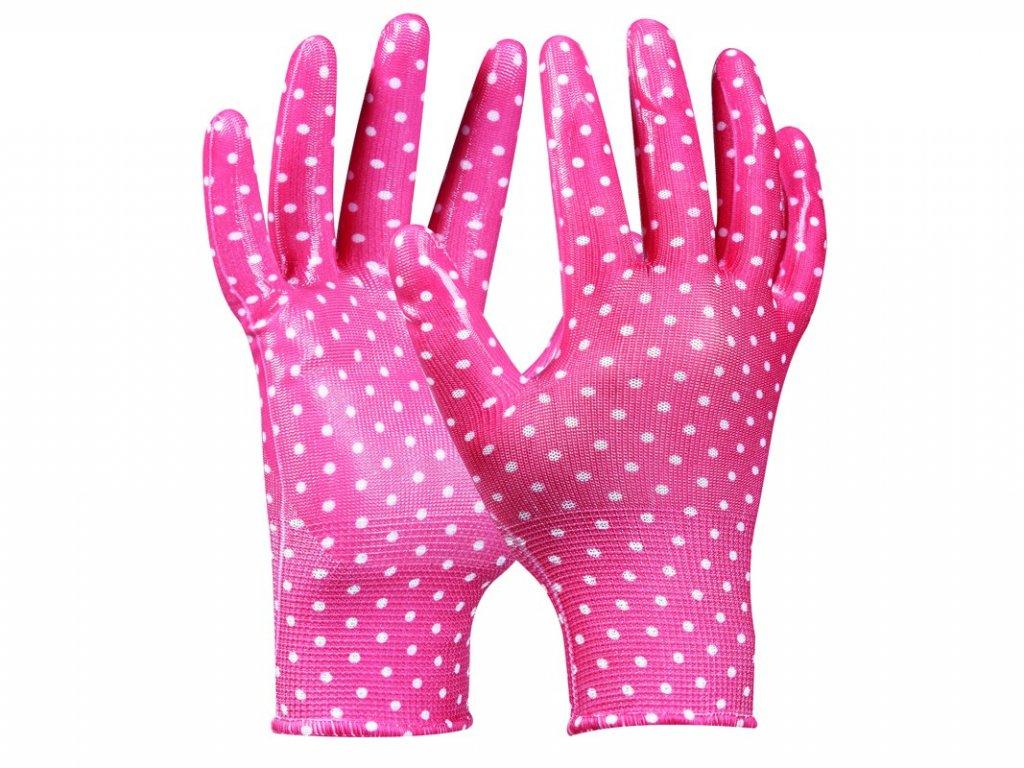 Záhradné rukavice GEBOL Tommi Orange veľ. M