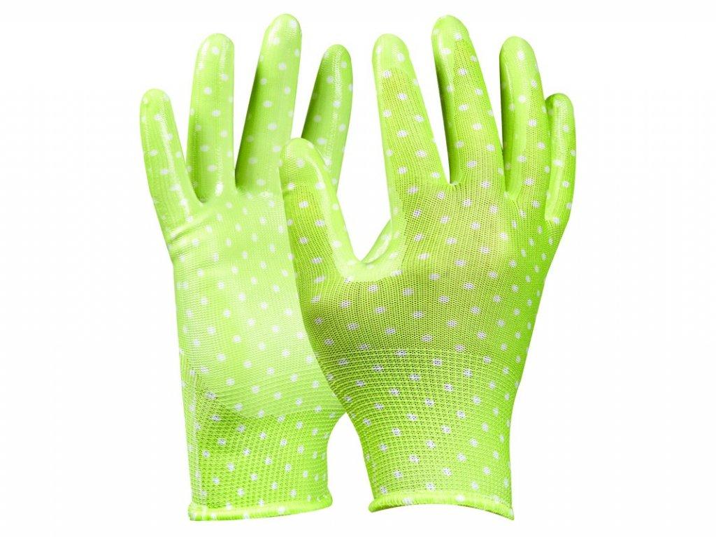 Záhradné rukavice GEBOL Tommi Orange veľ. S