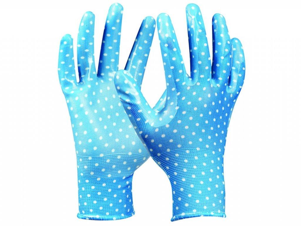 Záhradné rukavice GEBOL Tommi Orange veľ. L
