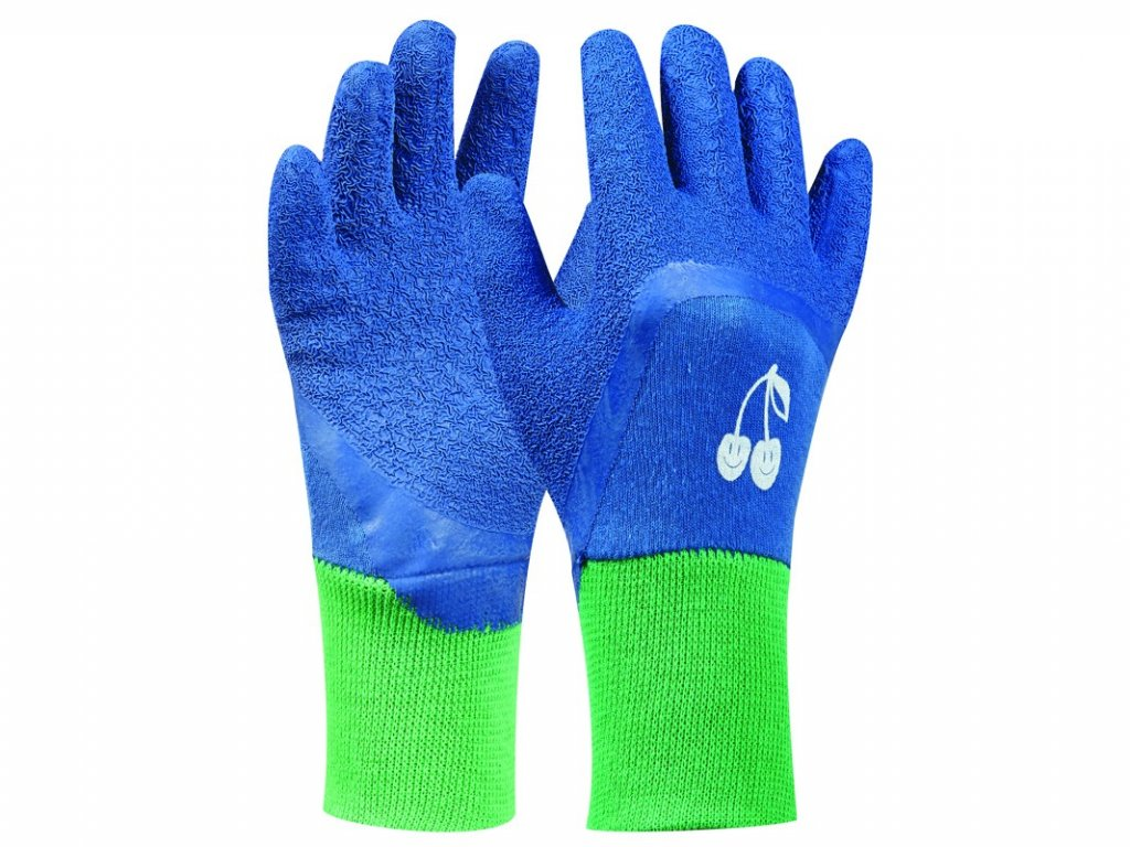 Záhradné rukavice GEBOL Tommi Kirsche blau