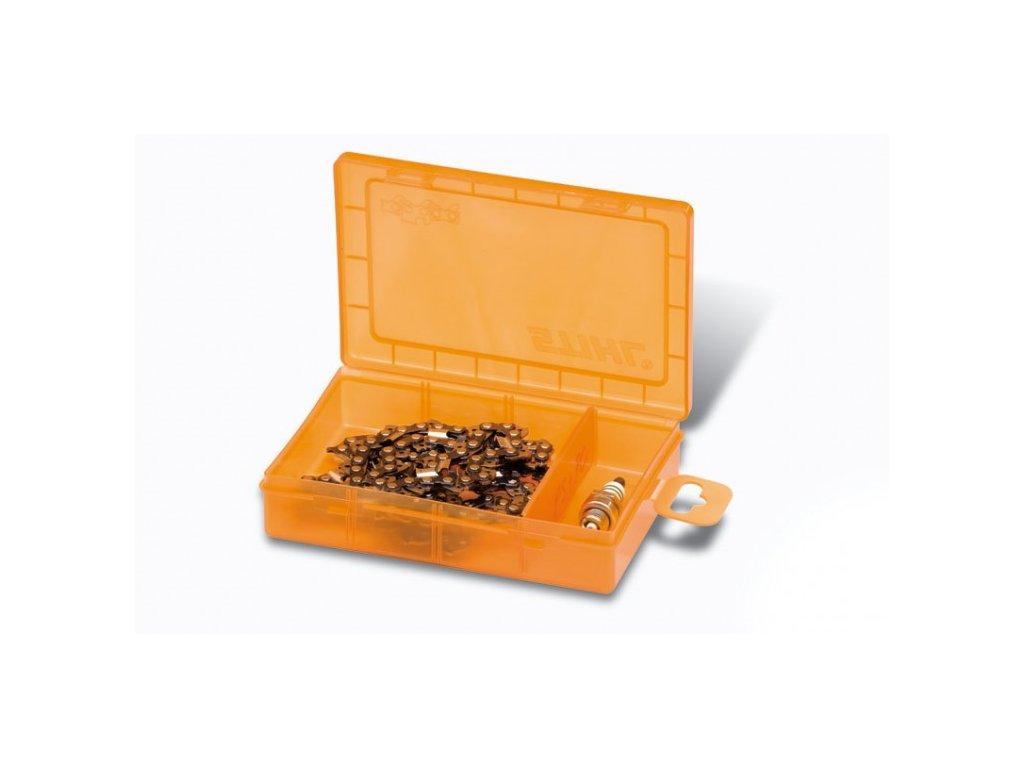 Odkladací box pre rezné reťaze
