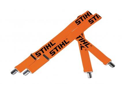 Traky oranžové 130 cm, spony