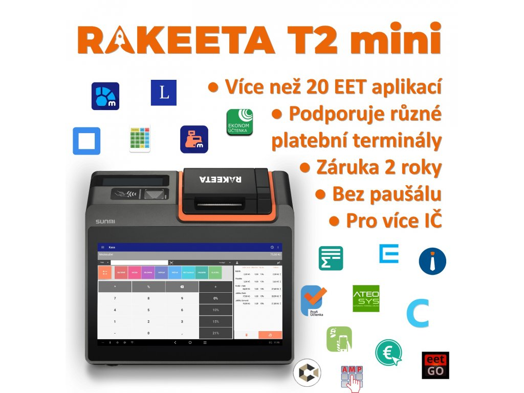 Rakeeta T2 mini aplikace