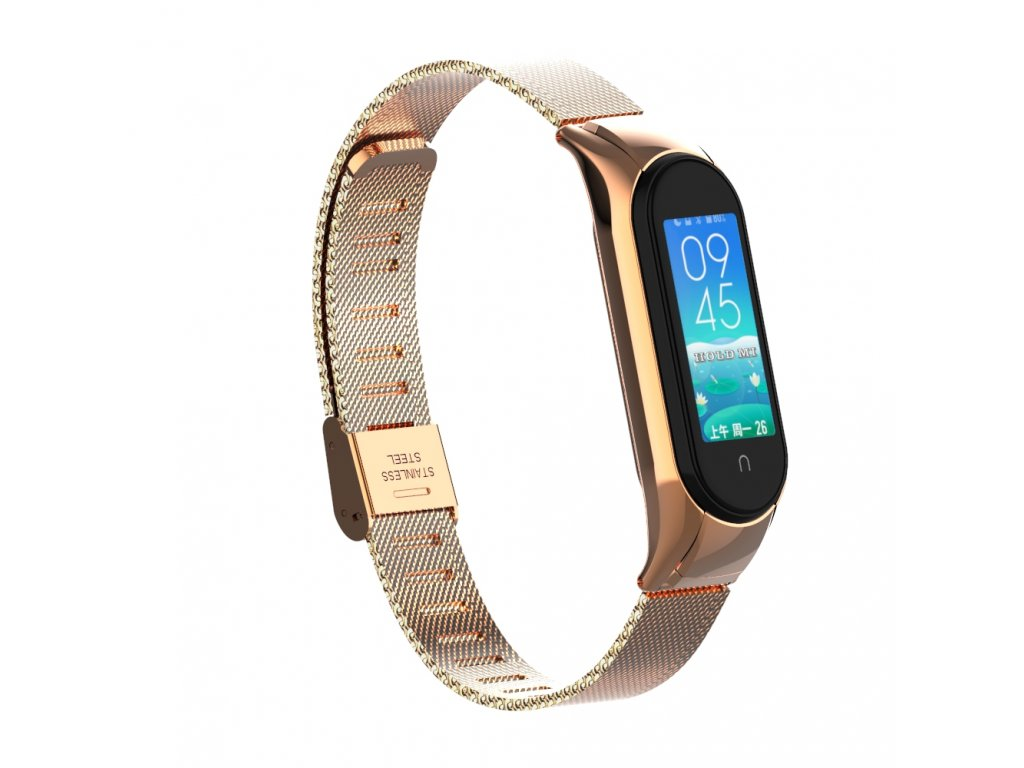 Deveroux milansky reminek pro MiBand rose gold 01