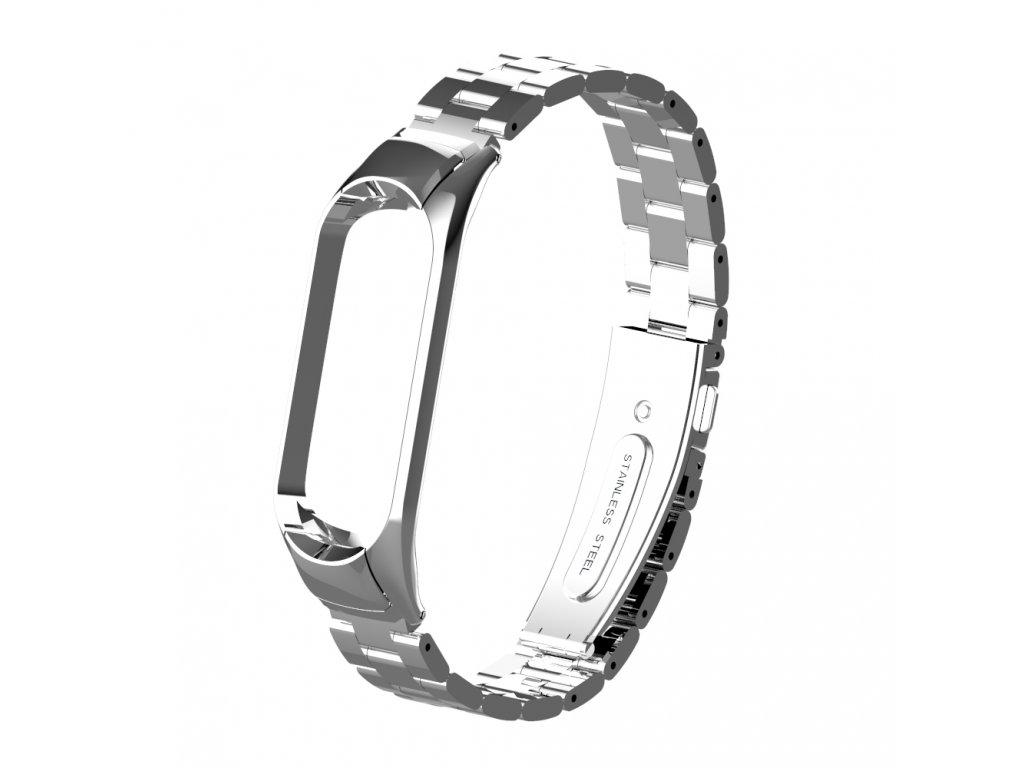 Deveroux kovovy reminek pro MiBand 3 4 silver 01