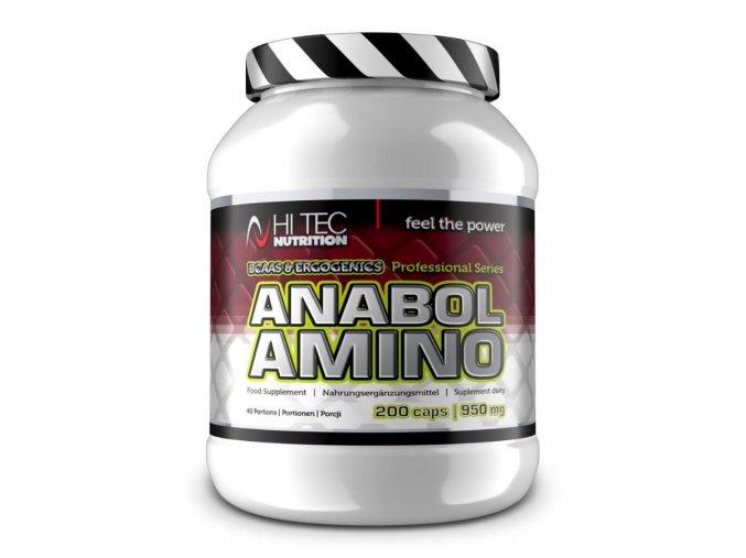 Hi Tec Nutrition Anabol amino professional 200 kapslí  + šťavnatá tyčinka ZDARMA