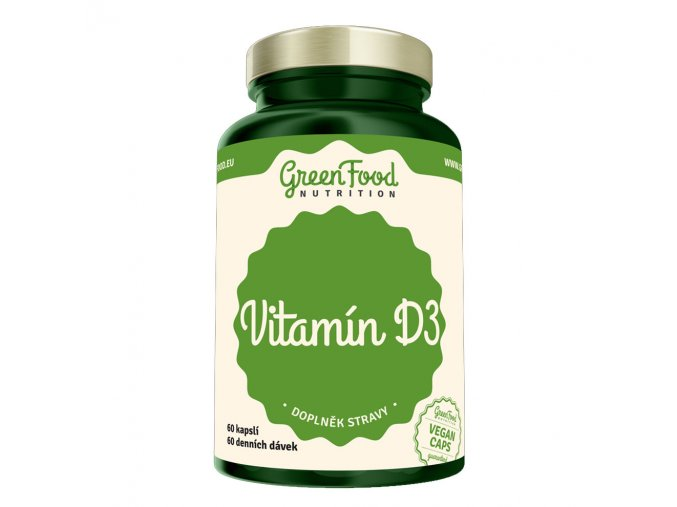 GreenFood Nutrition Vitamin D3 60 vegan kapslí