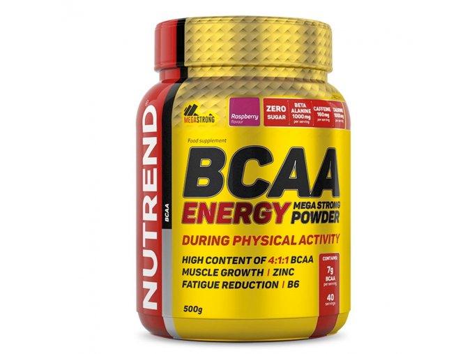 Nutrend BCAA Energy Mega Strong Powder 500g  + šťavnatá tyčinka ZDARMA