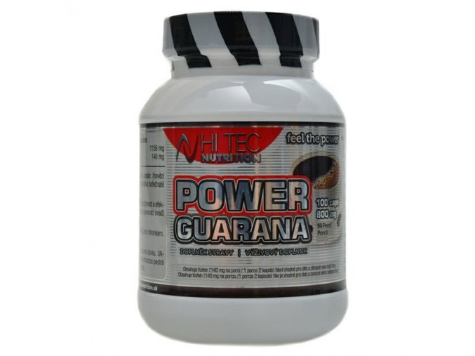 Hi Tec Nutrition Power Guarana 800mg 100 kapslí