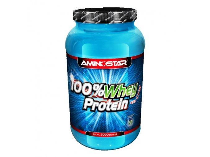PROTEIN Aminostar 100% Whey Protein 2000g  + šťavnatá tyčinka ZDARMA