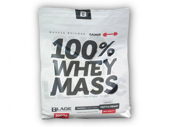 Hi Tec Nutrition BS Blade 100% Whey Mass Gainer 3000g  + šťavnatá tyčinka ZDARMA