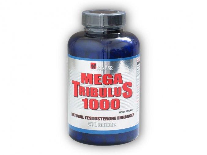 Mega Pro Nutrition Mega Tribulus 1000 200 tablet  + šťavnatá tyčinka ZDARMA