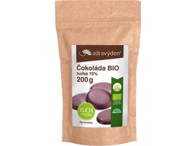 Zdravý den Čokoláda hořká BIO 70% 200g