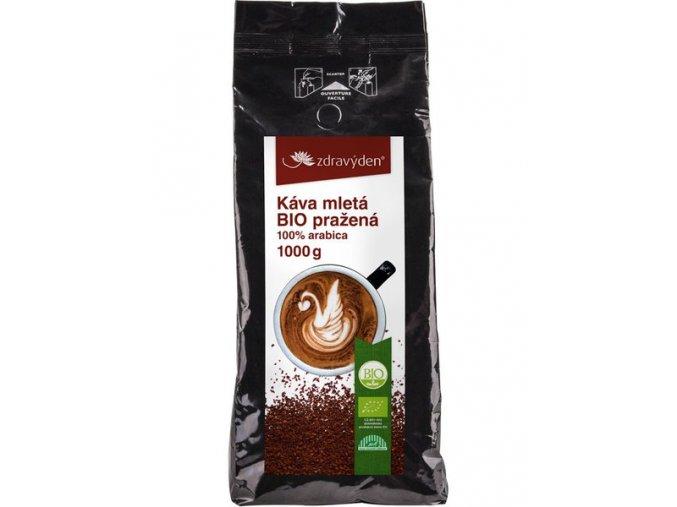 Zdravý den Káva mletá BIO pražená 1000g  + šťavnatá tyčinka ZDARMA