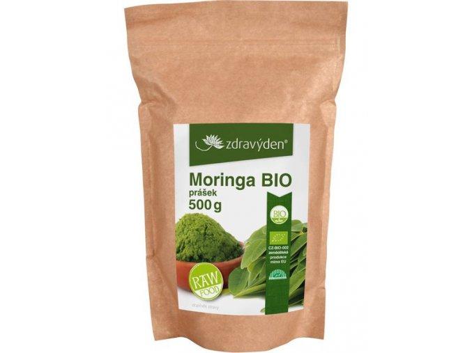 Zdravý den Moringa BIO 500g  + šťavnatá tyčinka ZDARMA