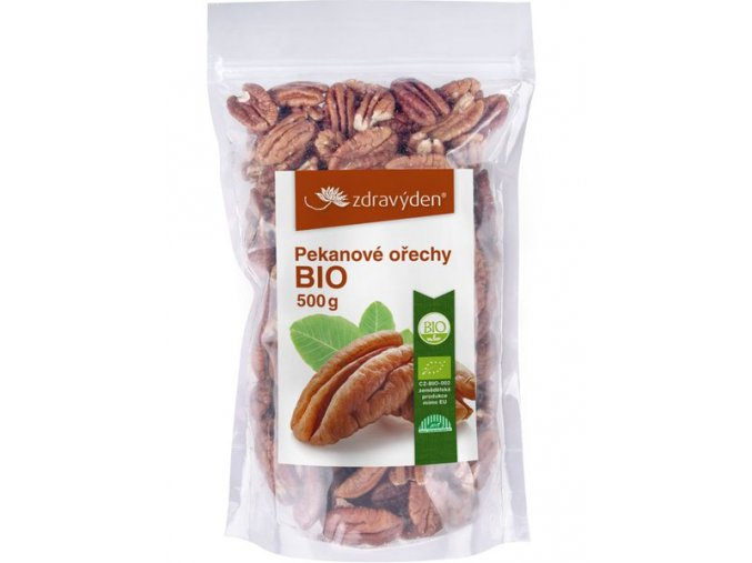 Zdravý den Pekanové ořechy BIO 500g  + šťavnatá tyčinka ZDARMA