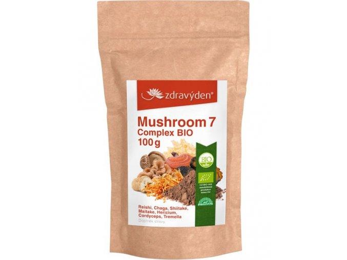 Zdravý den Mushroom 7 Complex BIO 100g