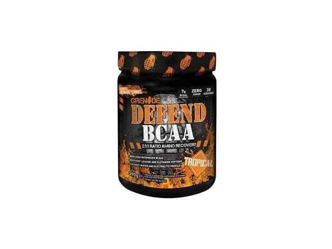 Grenade Defend BCAA 390g tropické ovoce  + šťavnatá tyčinka ZDARMA