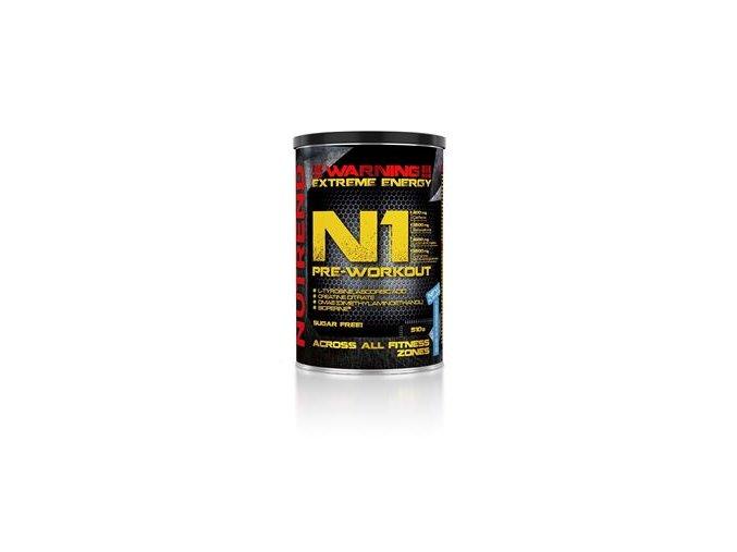 Nutrend N1 Pre-Workout 510g červený pomeranč  + šťavnatá tyčinka ZDARMA