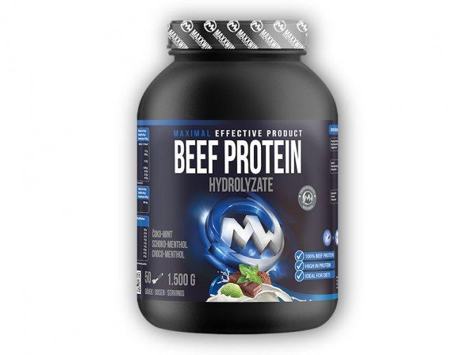 PROTEIN Maxxwin Beef Protein Hydrolyzate 1500g  + šťavnatá tyčinka ZDARMA
