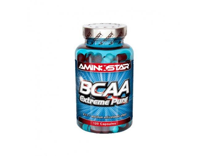 Aminostar BCAA Extreme Pure 420 kapslí  + šťavnatá tyčinka ZDARMA