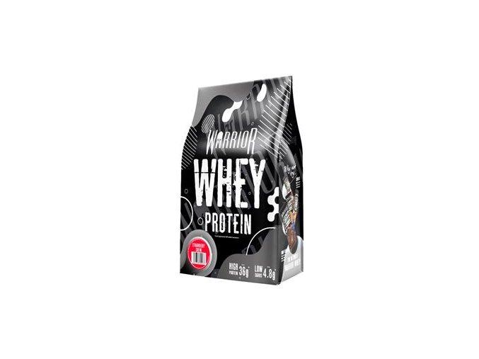 WARRIOR Whey Protein 1kg jahoda  + šťavnatá tyčinka ZDARMA