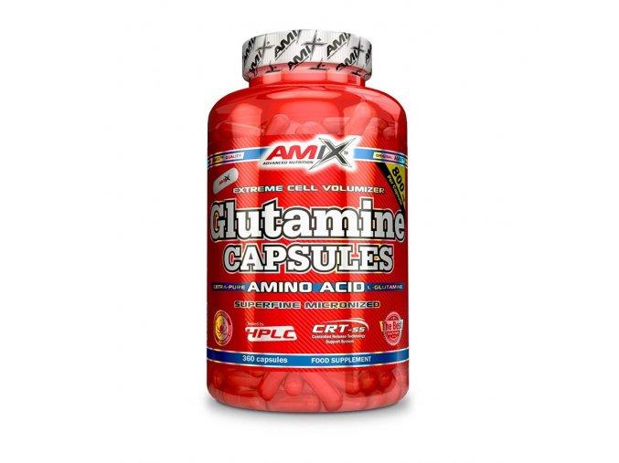 Amix Glutamine Capsules 120 kapslí  + šťavnatá tyčinka ZDARMA