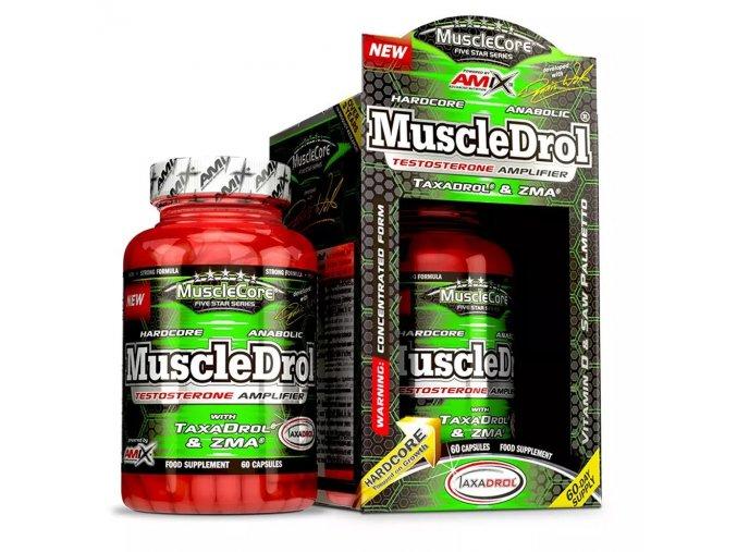 Amix MuscLe Core Five Star Series MuscleDrol 60 kapslí  + šťavnatá tyčinka ZDARMA