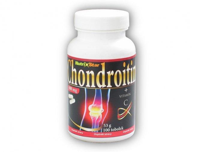 Nutristar Chondroitin 400mg 100 kapslí  + šťavnatá tyčinka ZDARMA