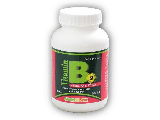 Nutristar Kyselina listová Folacin vitamin B 9 500 tbl  + šťavnatá tyčinka ZDARMA