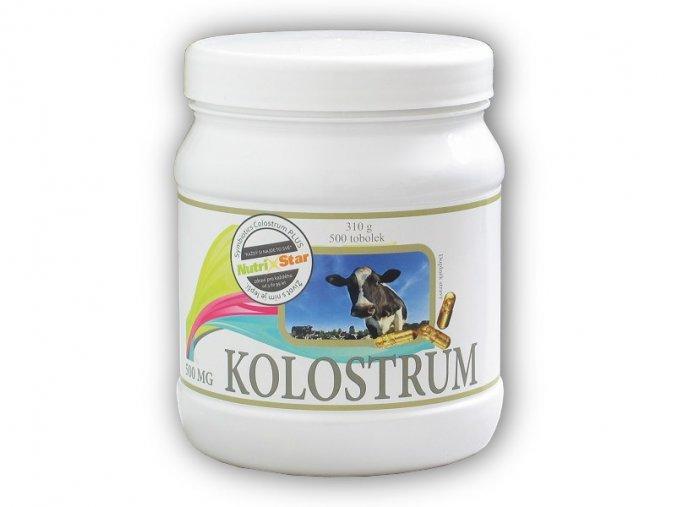 Nutristar Kolostrum 500 kapslí  + šťavnatá tyčinka ZDARMA