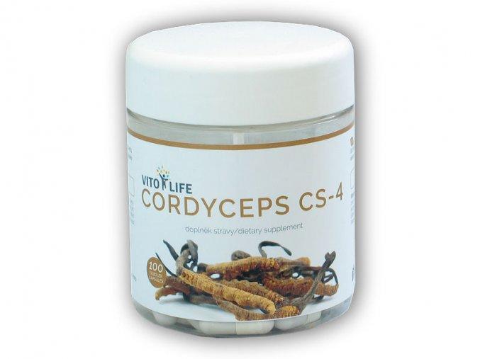 Vito Life Cordyceps Sinensis CS-4 100 kapslí  + šťavnatá tyčinka ZDARMA