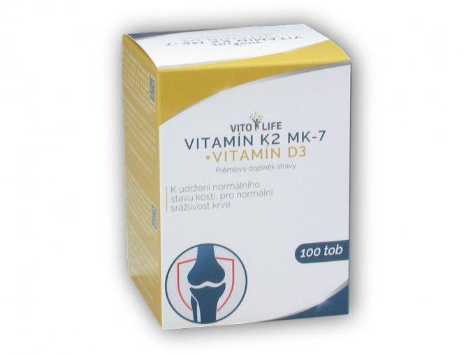 Vito Life Vitamin K2 MK-7 200mcg 100 kapslí  + šťavnatá tyčinka ZDARMA