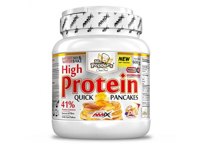 Amix Mr.Popper´s High Protein Pancakes 600g  + šťavnatá tyčinka ZDARMA