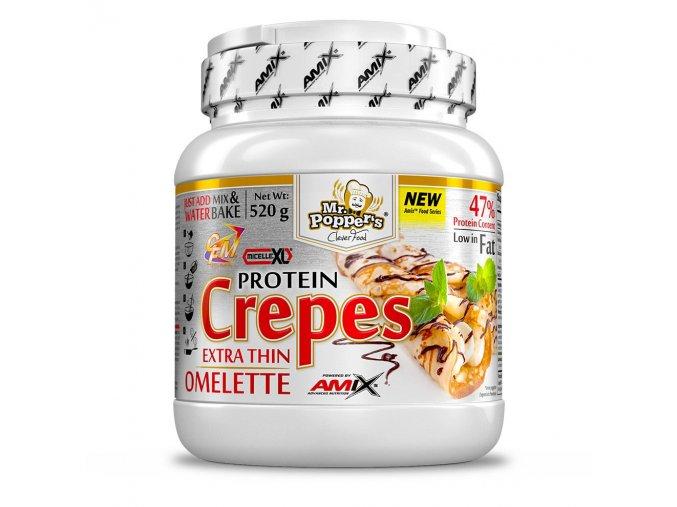 Amix Mr.Popper´s Protein Crepes 520g  + šťavnatá tyčinka ZDARMA