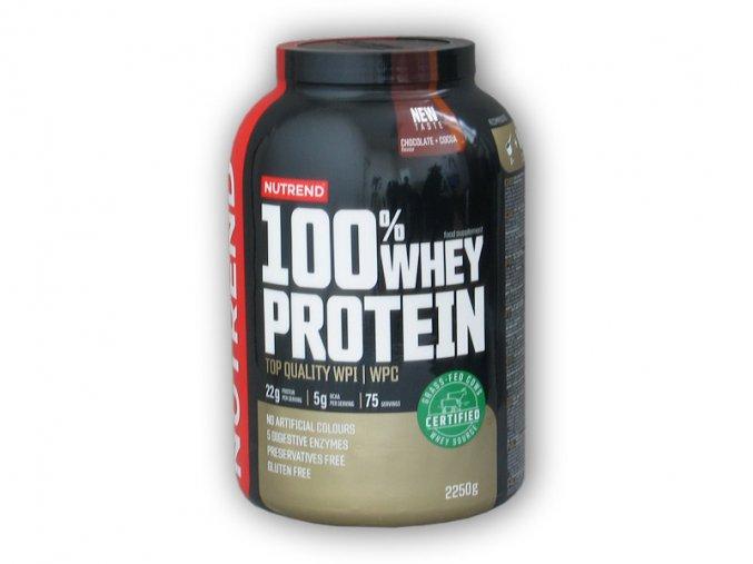 PROTEIN Nutrend 100% Whey Protein NEW 2250g  + šťavnatá tyčinka ZDARMA