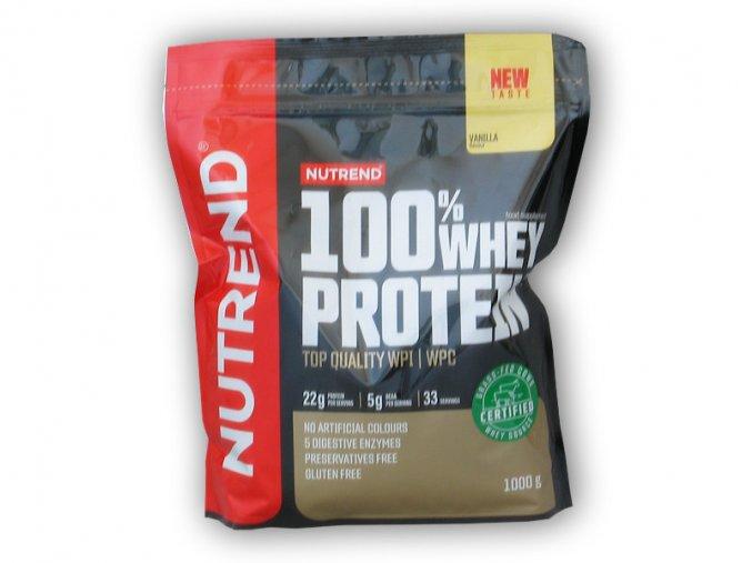 PROTEIN Nutrend 100% Whey Protein NEW 1000g  + šťavnatá tyčinka ZDARMA