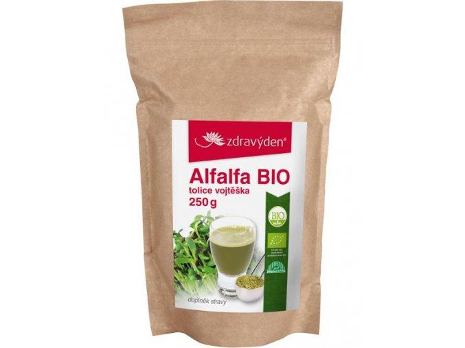 Zdravý den Alfalfa BIO 250g  + šťavnatá tyčinka ZDARMA