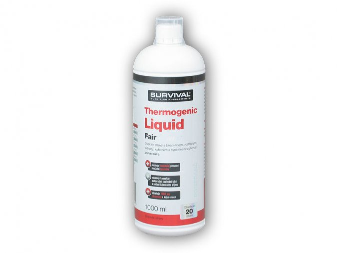 Survival Thermogenic liquid fair power 1000ml  + šťavnatá tyčinka ZDARMA