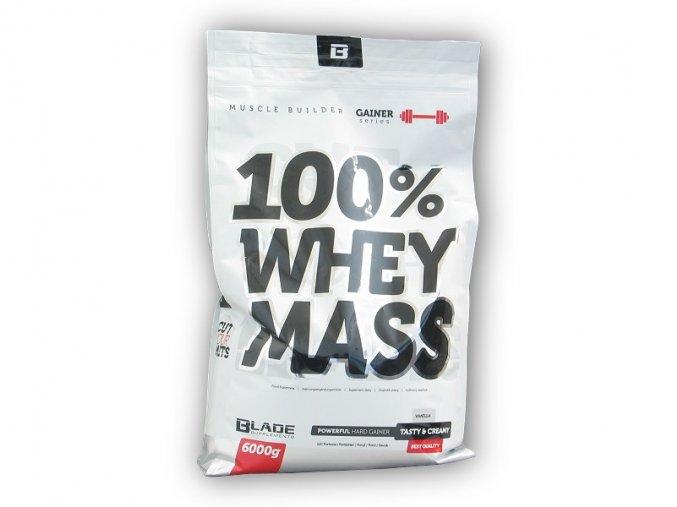 Hi Tec Nutrition BS Blade 100% Whey Mass Gainer 6000g  + šťavnatá tyčinka ZDARMA