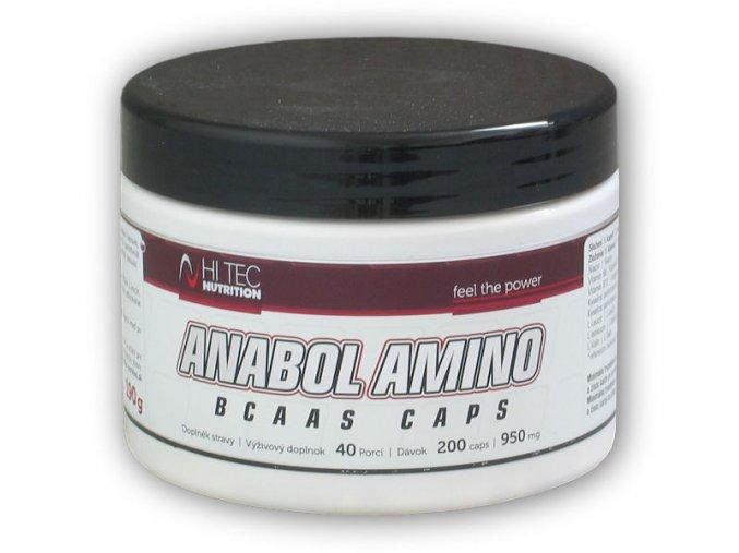 Hi Tec Nutrition Anabol Amino BCAA s 200 kapslí  + šťavnatá tyčinka ZDARMA